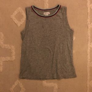 Free people rainbow collared tank top